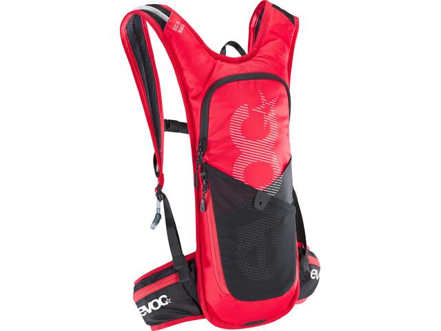 EVOC CC Race Lite Performance Backpack 3l + 2l Bladder red/black